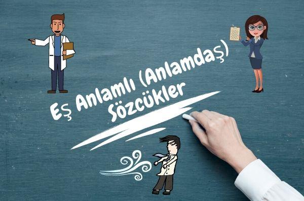 1.Sınıf Türkçe Eş Anlamlı (Anlamdaş) Sözcükler Konu Anlatımı