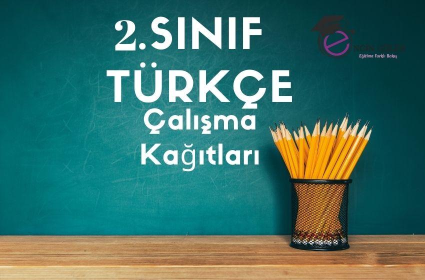 2.Sınıf Türkçe Ara Tatil Çalışma Kağıtları
